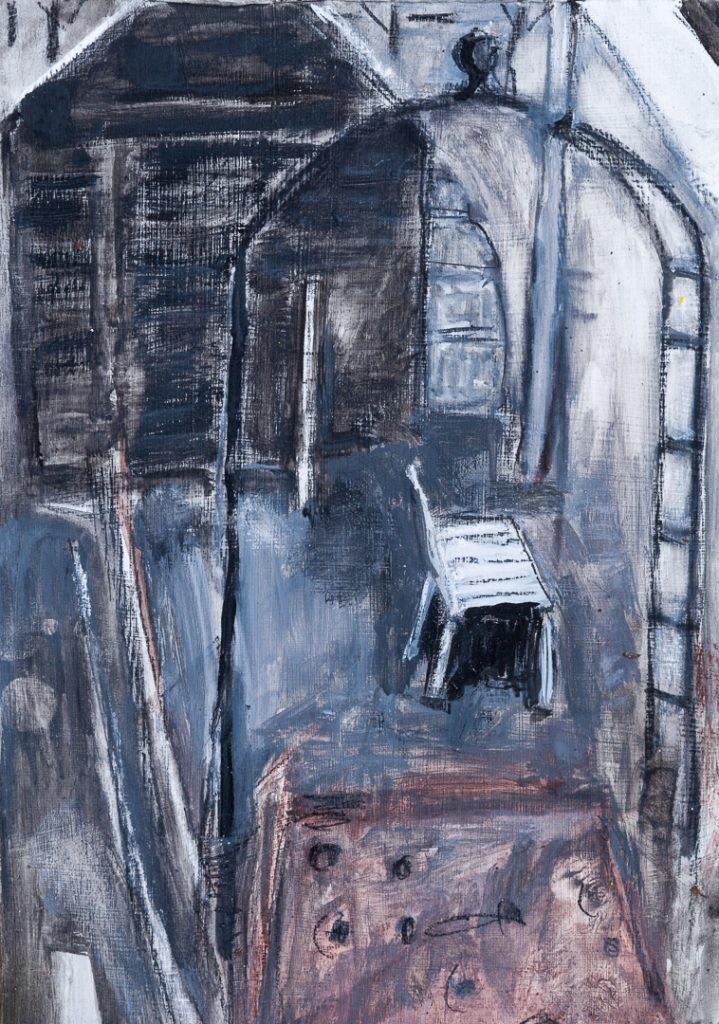 Alison Burt Toolshed in Winter