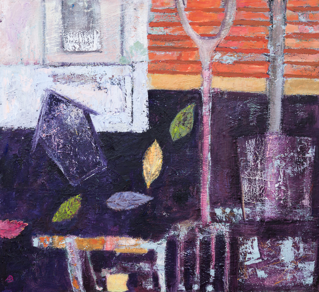 Alison Burt Toolshed in Autumn