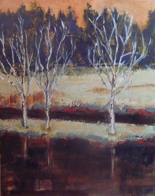 Alison Burt Birches by the Pond